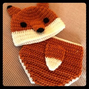 Other - Infant Fox Crochet set - newborn pictures ❤️ NWT